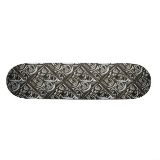 Bungalow-Hand Painted Abstract Brushstrokes Skateboard