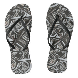 Bungalow-Hand Painted Abstract Brushstrokes Thongs