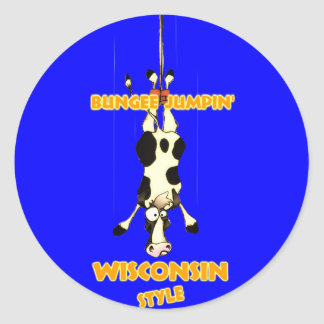 Bungee Jumpin' Wisconsin style Stickers