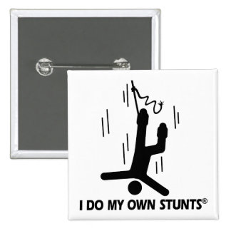 Bungee Jumping My Own Stunts Pinback Buttons