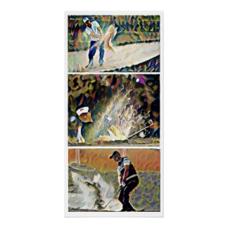 Bunker Action - Golf Watercolor Print