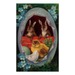 Bunnies and Chick Easter Poster