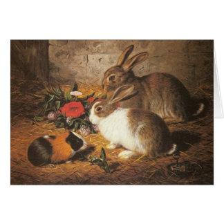 Bunnies and Guinea Pig Card
