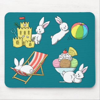 Bunnies at the Beach Mouse Pad