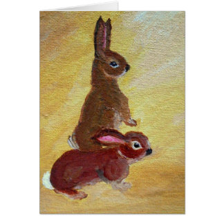 Bunnies - Greeting Card