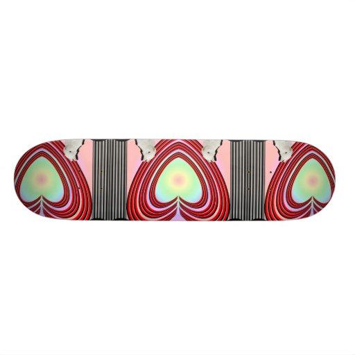 Bunnies Heart Frame Big Skate Board Deck