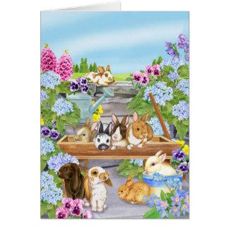 Bunnies in the Garden Card