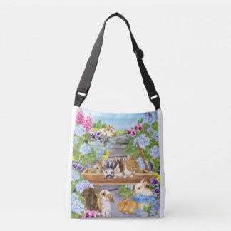 Bunnies in the Garden Crossbody Bag