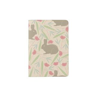 Bunnies in the Garden Pattern Passport Holder