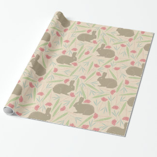 Bunnies in the Garden Pattern Wrapping Paper