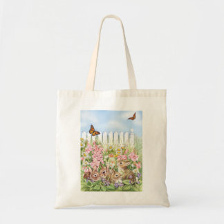 Bunnies in the Garden Tote Bag