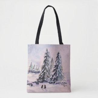 Bunnies in Winter Tote Bag