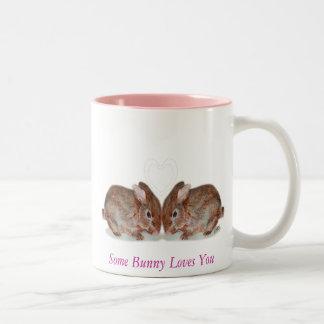 bunnies, Some Bunny Loves You Two-Tone Mug