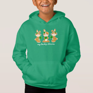 Bunnies with Shamrocks St.Patrick's Day Hoodie