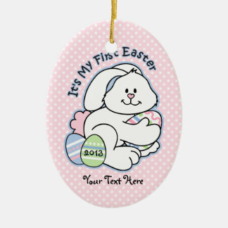 Bunny 1st Easter Christmas Tree Ornaments