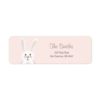 Bunny Address Labels Spring Pink Easter Egg hunt