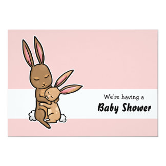 "Bunny and baby customisable Baby Shower Invitation 5"" X 7"" Invitation Card"