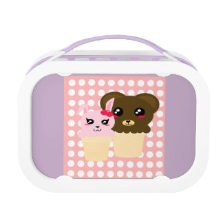 Bunny and Bear Ice Cream Violet Lunchbox