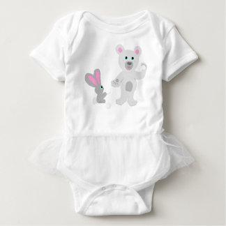 Bunny and Bear Team mates Baby Bodysuit