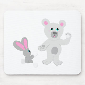 Bunny and Bear Team mates Mouse Pad