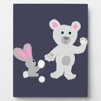 Bunny and Bear Team mates Plaque