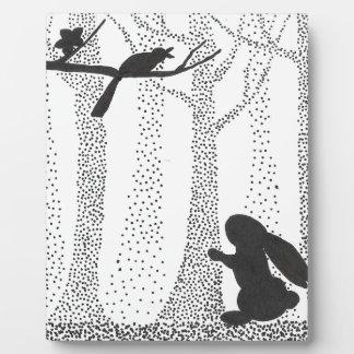 Bunny and Bird Plaque