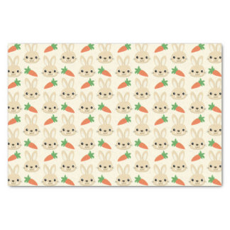 Bunny and Carrot Easter Pattern Tissue Paper