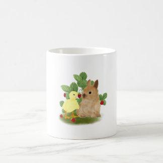 Bunny and Duckling Coffee Mug