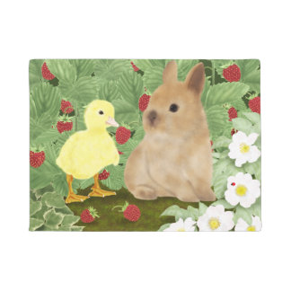 Bunny and Duckling Doormat
