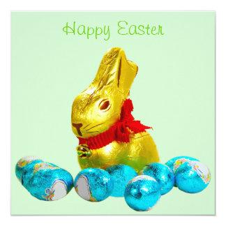 Bunny and Eggs Invitation Template