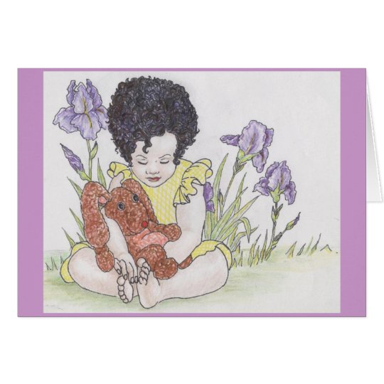 Bunny and irises card