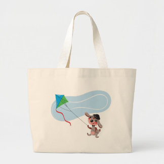 Bunny and Kite 2 Large Tote Bag