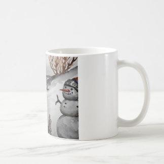 Bunny and Snowman winter mug