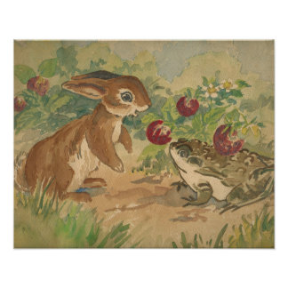Bunny and Toad 20 X 16 print
