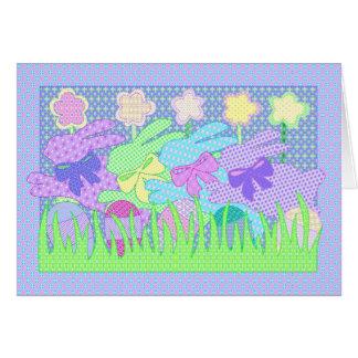 Bunny applique card II