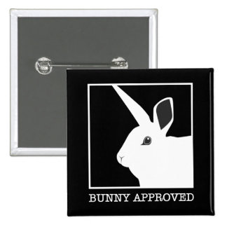 BUNNY APPROVED 15 CM SQUARE BADGE