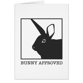 BUNNY APPROVED GREETING CARD