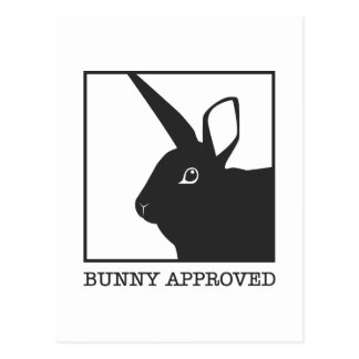 BUNNY APPROVED POSTCARD