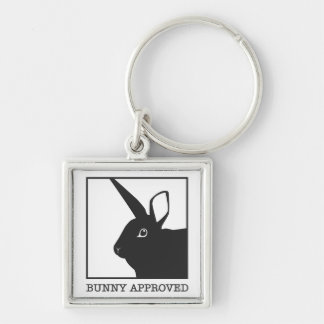 BUNNY APPROVED Silver-Colored SQUARE KEY RING