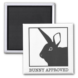 BUNNY APPROVED SQUARE MAGNET