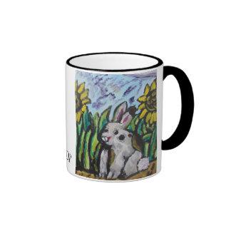 Bunny art ringer mug