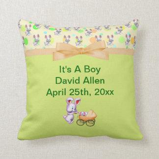 Bunny Babies,Creamy Colors Baby Shower Keepsake Pillow