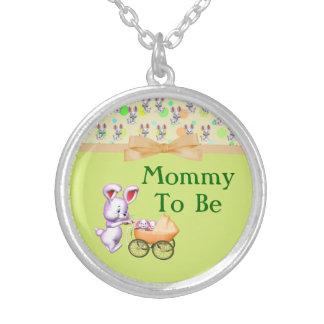 Bunny Babies,Creamy Colors Baby Shower Necklaces