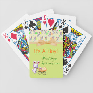 Bunny Babies,Creamy Colors Baby Shower Poker Cards