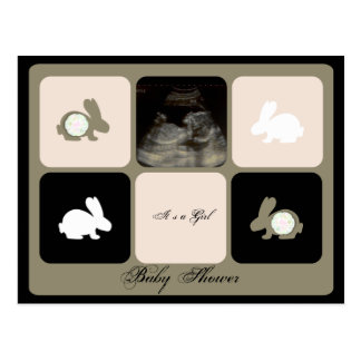 Bunny Baby Shower Invitation Postcard