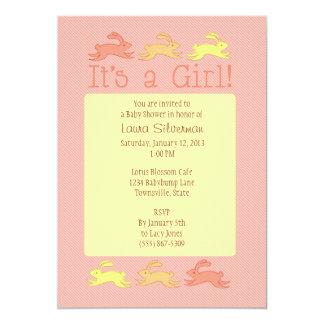 Bunny Baby Shower Invitations (Girl)