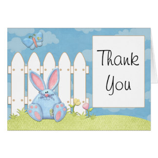 Bunny Baby Shower Thank You Card