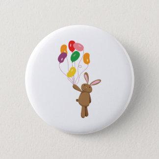 Bunny Balloons 6 Cm Round Badge