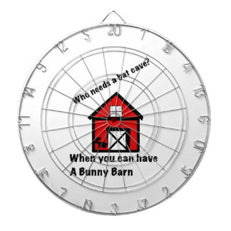 Bunny barn dartboard with darts