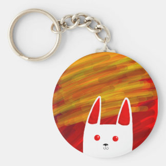 Bunny Basic Round Button Key Ring
